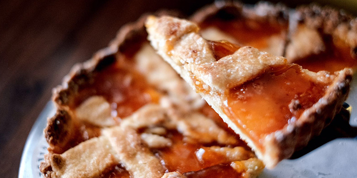 Peach Pie from Cibo Italiano in River Valley, Singapore