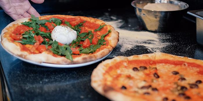 Pizza Spread from Cibo Italiano in River Valley, Singapore
