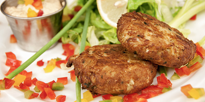 Crab Cakes from Burlamacco Ristorante on Stanley Street in Telok Ayer, Singapore
