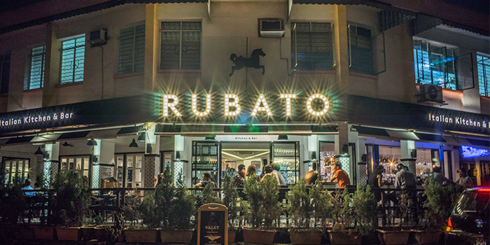 Exterior at RUBATO serving Italian cuisine in Bukit Timah, Singapore