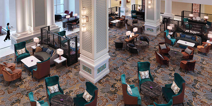 Aerial View of The Lobby Lounge in InterContinental Singapore in Bugis, Singapore