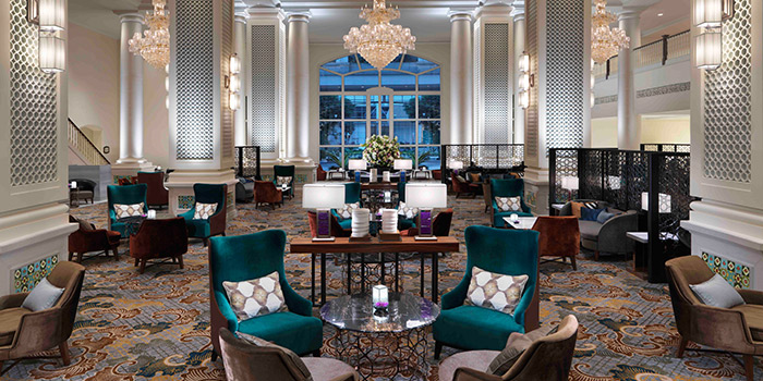 Interior of The Lobby Lounge in InterContinental Singapore in Bugis, Singapore