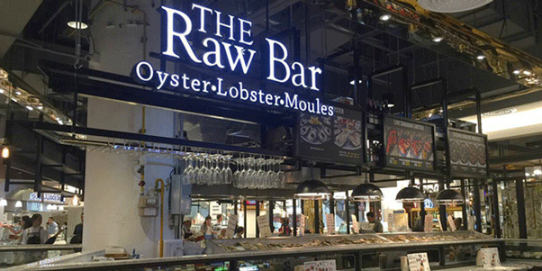 Interior of The Raw Bar in Emporium, Bangkok