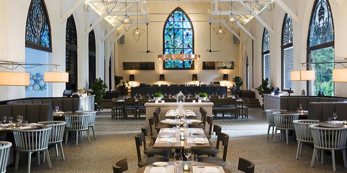 Interior of The White Rabbit serving Modern European cuisine in Dempsey, Singapore