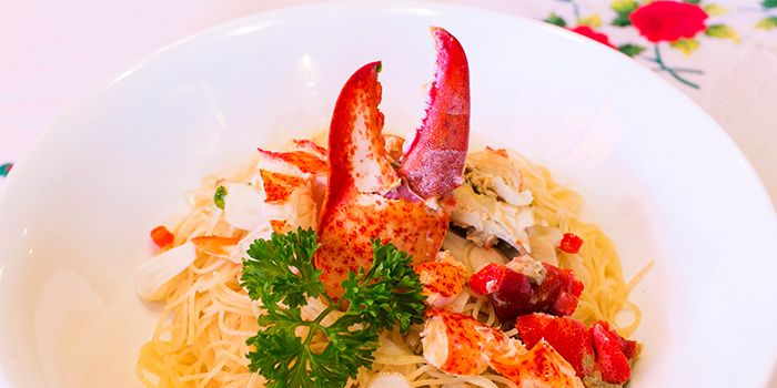 Lobster Angel Hair Pasta from The Tavern Restaurant in River Valley, Singapore