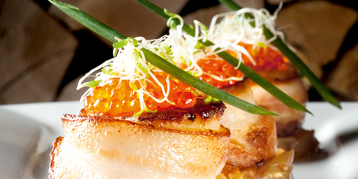 Bacon Wrapped Scallops from Wooloomooloo Steakhouse Singapore at Swissotel The Stamford in City Hall, Singapore