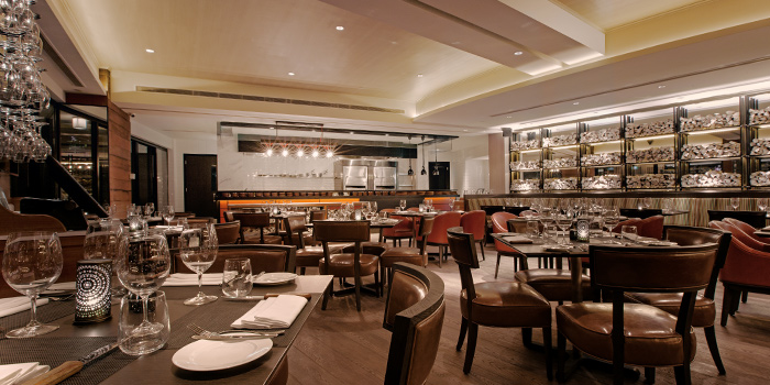 Open Kitchen in Wooloomooloo Steakhouse Singapore at Swissotel The Stamford in City Hall, Singapore