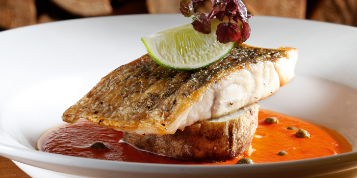 Pan-Seared Barramundi Fillet from Wooloomooloo Steakhouse Singapore at Swissotel The Stamford in City Hall, Singapore
