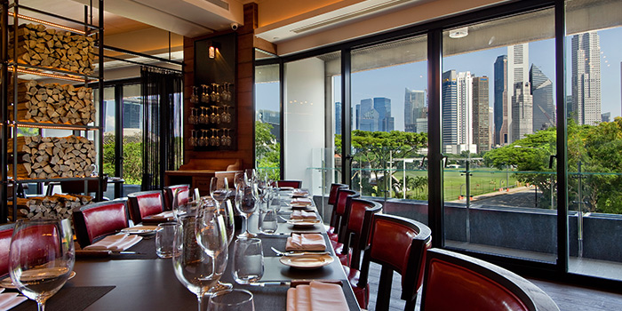 Semi Private Room in Wooloomooloo Steakhouse Singapore at Swissotel The Stamford in City Hall, Singapore