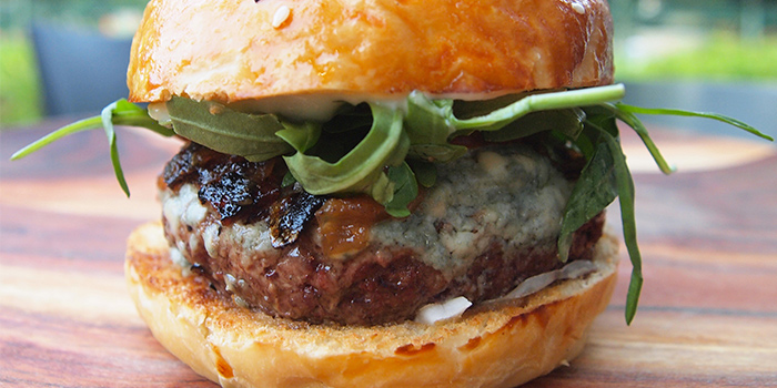 Beefy Blue Cheese Burger from Spruce serving American cuisine at Upper Bukit Timah in Singapore