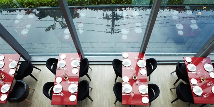Interior of Café Milano at Sindhorn Tower on Wireless Road, Bangkok