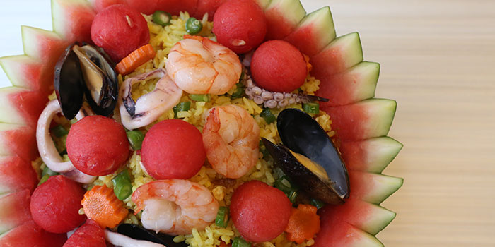 Watermelon Fried Rice from Gin Khao Bistro (Sentosa Cove) in Sentosa, Singapore