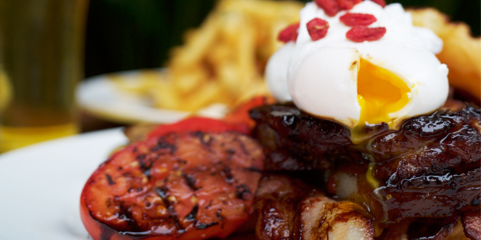 Porkloin-Bacon Poached Eggs from Kith Cafe (Millenia Walk) in Promenade, Singapore