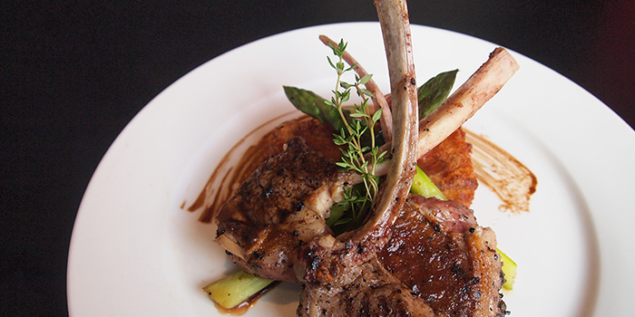 Oven-Roasted Rack of Lamb from Spruce serving American cuisine at Upper Bukit Timah in Singapore