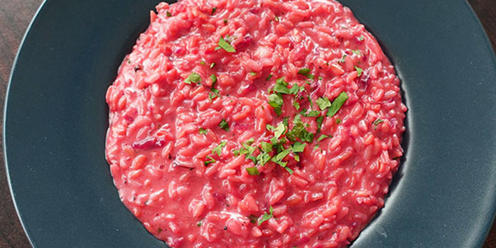 Beetroot Risotto from PocoLoco Microbrewery in Jurong, Singapore