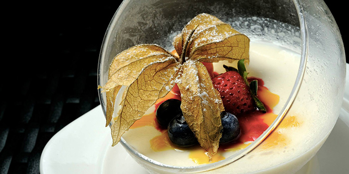 Panna Cotta from Ristorante Takada in Queenstown, Singapore