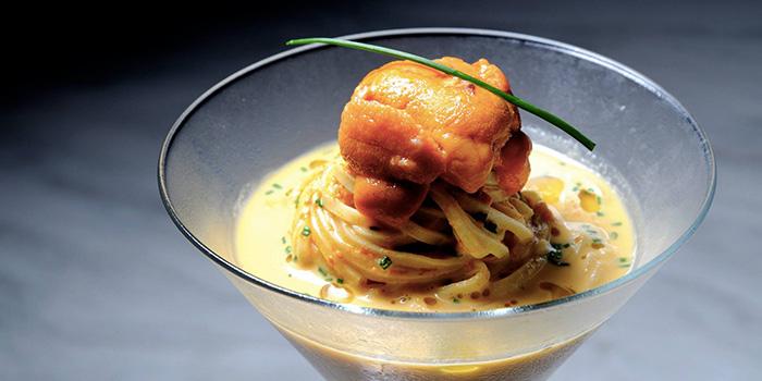 Tagliolini in Cold Carbonara Sauce from Ristorante Takada in Queenstown, Singapore