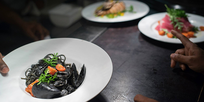 Squid Ink Pasta from RUBATO serving Italian cuisine in Bukit Timah, Singapore