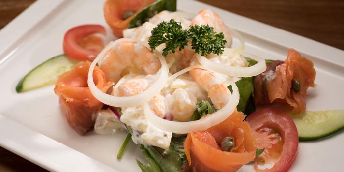 Shrimps and Salmon Salad, Nebraska, Wan Chai, Hong Kong