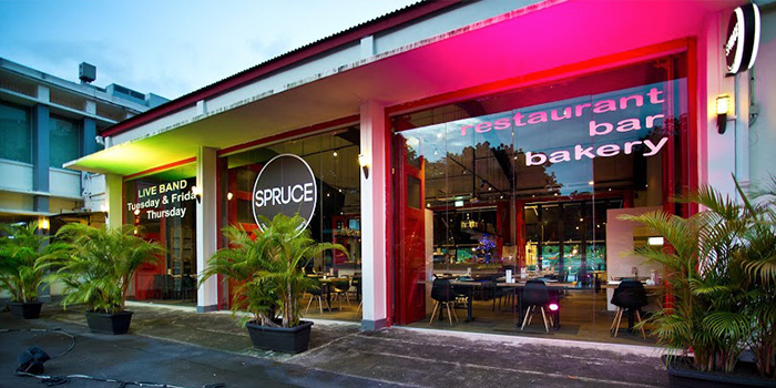 Exterior from Spruce serving American cuisine at Upper Bukit Timah in Singapore
