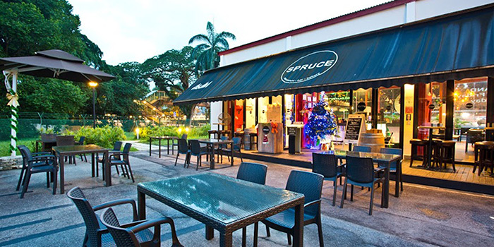 Outdoor Dining from Spruce serving American cuisine at Upper Bukit Timah in Singapore
