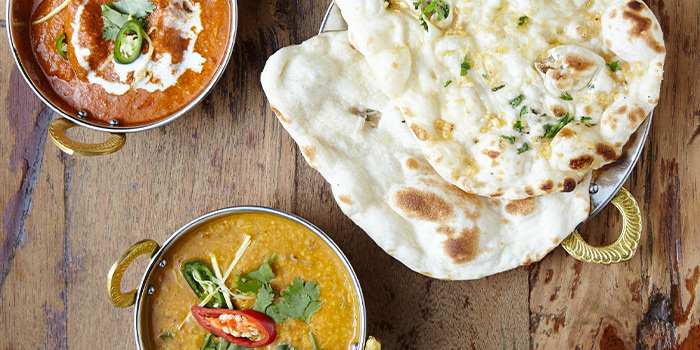 Naan from the Indian Station at StraitsKitchen in Grand Hyatt in Orchard, Singapore