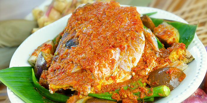 Asam Pedas Fish Head from The Peranakan in Orchard, Singapore