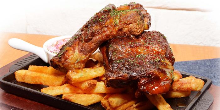 Carolina BBQ Ribs, Texas Burger, Tin Hau, Hong Kong