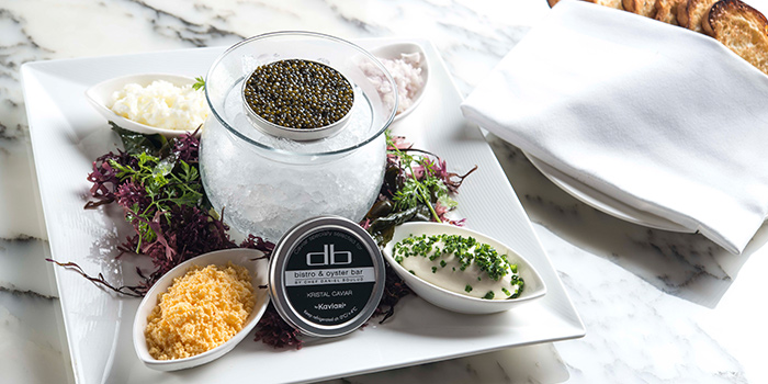 Signature Oscietra Caviar from db Bistro & Oyster Bar in The Shoppes at Marina Bay Sands, Singapore