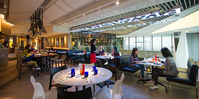 Dining Area of PizzaExpress YOHO, Yuen Long, Hong Kong