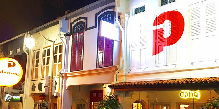 Exterior of Da Paolo HQ Club Street in Raffles Place, Singapore