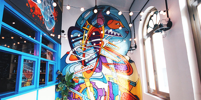 Mural from Freehouse in Raffles Place, Singapore