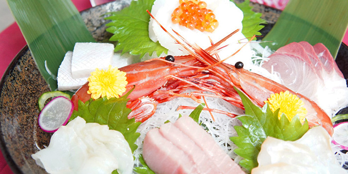 Sashimi from Hanashizuku Japanese Cuisine at Cuppage Plaza in Orchard, Singapore
