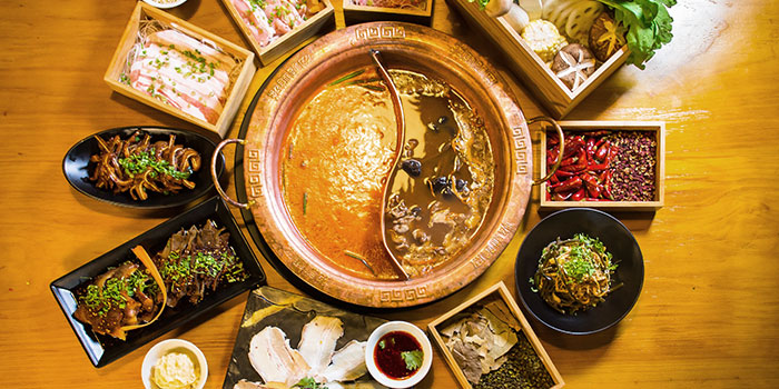 Hotpot Spread from LongQing in Clarke Quay, Singapore