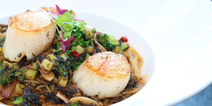 Seaweed Scallops Pasta from Water Library Brasserie at Central Embassy, Bangkok