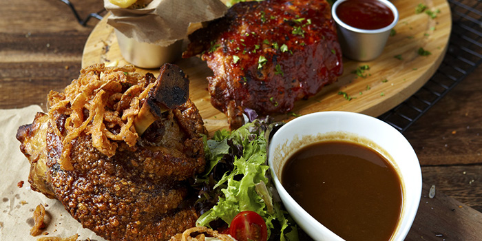 Pork Knuckle and Ribs from Stärker Bistro (Hill View) in Bukit Timah, Singapore
