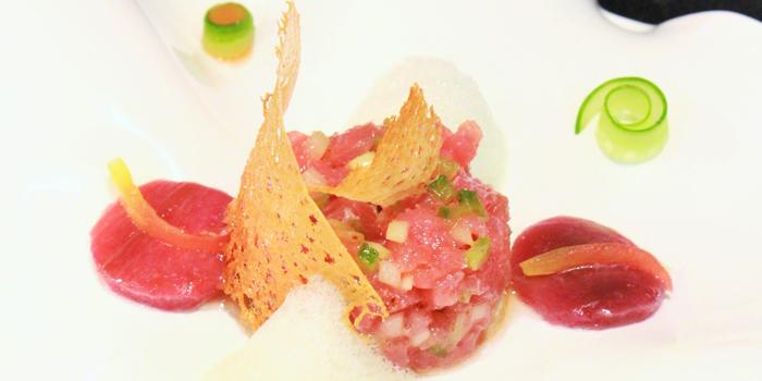 Tuna Tartar with Marinated Eggplant from J