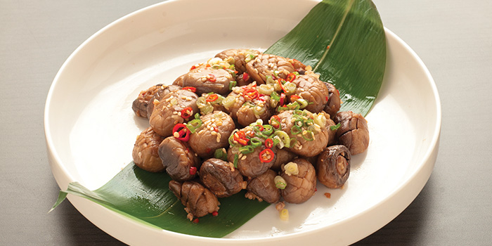 Stewed Mushroom and Minced Pork from TungLok XiHe Peking Duck (The Grandstand) in Bukit Timah, Singapore