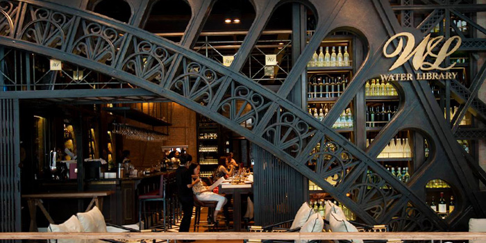 Ambience from Water Library Brasserie at Central Embassy, Bangkok