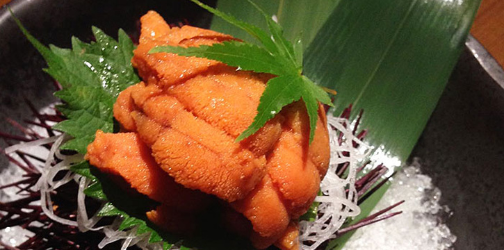 Sea Urchin from Hanashizuku Japanese Cuisine at Cuppage Plaza in Orchard, Singapore