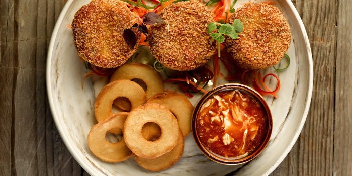 Chilli Crab Cakes from Baba Chews Bar and Eatery in Hotel Indigo Singapore Katong in East Coast, Singapore