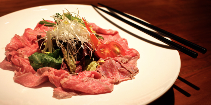 Beef Carpaccio from Hanashizuku Japanese Cuisine at Cuppage Plaza in Orchard, Singapore