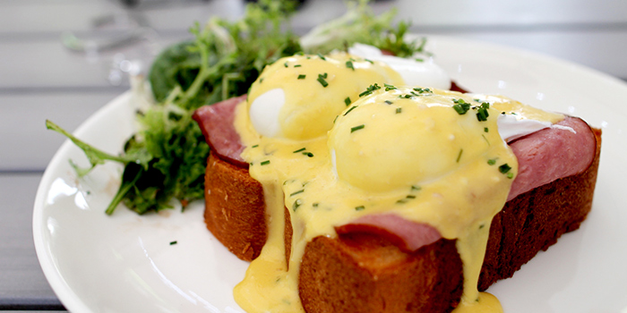 Eggs Benedict from Boufe Boutique Cafe in Tanglin, Singapore