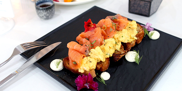 Smoked Salmon Croissant from Boufe Boutique Cafe in Tanglin, Singapore