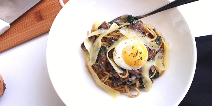 Truffle Mushroom Pasta from Boufe Boutique Cafe in Tanglin, Singapore