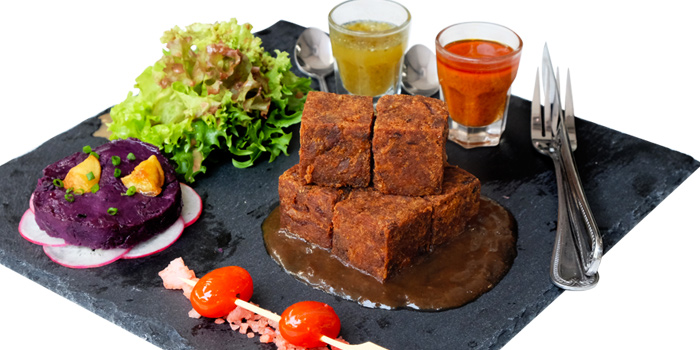 Crispy Pork Cube from Audrey Cafe Glamour at Central Embassy, Bangkok