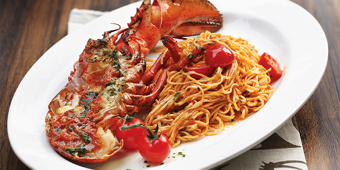 Angel Hair Pasta with Lobster from District 10 in UE Square in Robertson Quay, Singapore