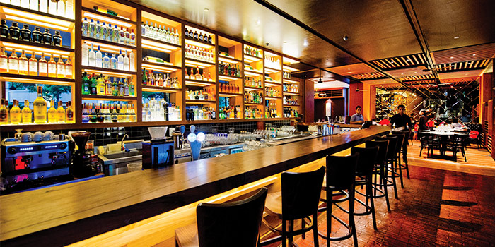 Bar of District 10 in UE Square in Robertson Quay, Singapore