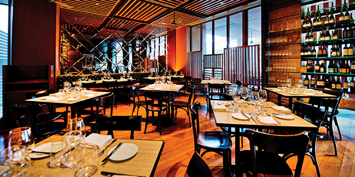 Interior of District 10 in UE Square in Robertson Quay, Singapore