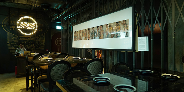 Dining Area of URA Japanese Delicacy, Central, Hong Kong